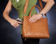 Outlandish beauty for a concealed carry handbag
