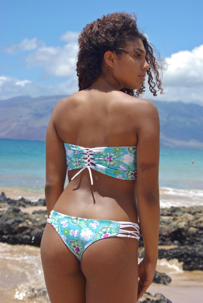 A Jaws Reversible Cheeky Brazilian Bikini Bottom Customize Size & Choose from 50+ Fabrics