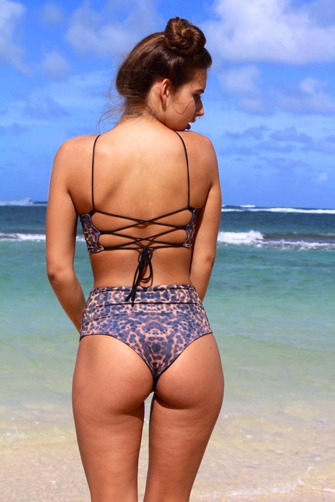 Beautiful Samoa Style Reversible Mid High Waisted Swimwear Bikini Bottoms Customize Size & Choose from 50+ Fabrics3
