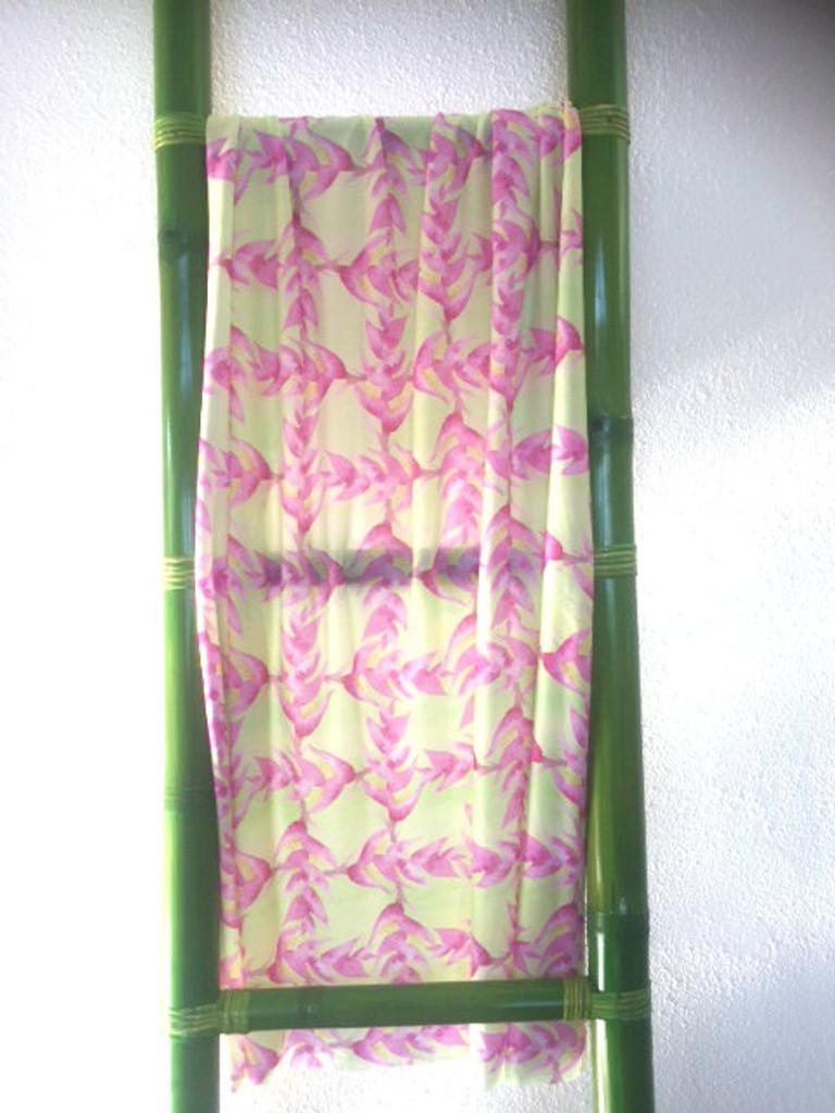 Helconia Lemon Tye Dye Sarong