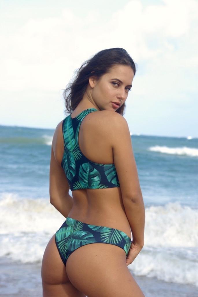 Kilauea Reversible Racer Back Sports Bra Swimsuit Bikini ...