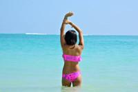 A Hilo (1 Ruffle) Bikini Top Style Customize Size & Choose from 50+ Fabrics