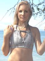 Laucala Festival Halter High Neck Halter Bikini Top Customize Size & Choose from 50+ Fabrics