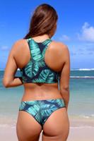 Kilauea Reversible Racer Back Sports Bra Swimsuit Bikini Top Customize Size & Choose from 50+ Fabrics