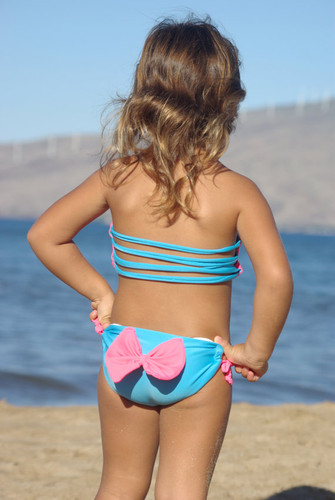 ANDRINA: Baby Bikini REVERSIBLE TOP   Customize Size & Choose from 50+ Fabrics