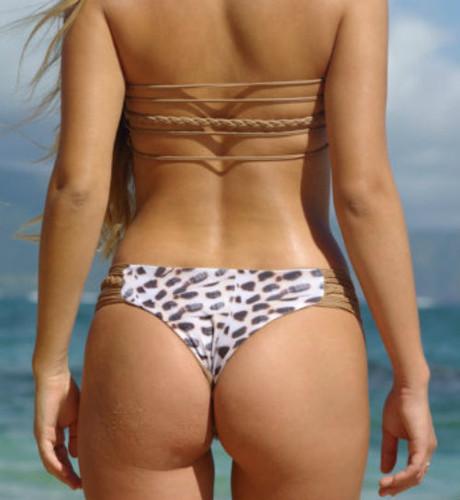Jockos Reversible Strapless String Bandeau Bikini Top Customize Size & Choose from 50+ Fabrics
