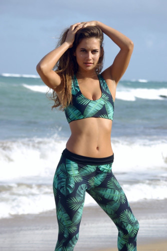 A Oluwalu SURF LEGGINGS , Yoga Leggings, Mermaid Activewear Customize Size & Choose from 50+ Fabrics