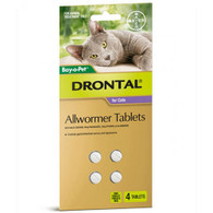 Drontal Cat Allwormer Tablet 4 Pack