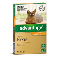 Advantage 4 Month Supply for Kittens and Small Cats up to 4kg