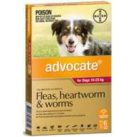 Advocate 6 Month Supply for Dogs 10-25kg