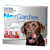 NexGard 6 Month Supply for Dogs 25.1-50kg