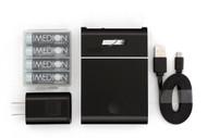 MH-C204U USB Compact Charger w/4AA 2400mAh Batteries