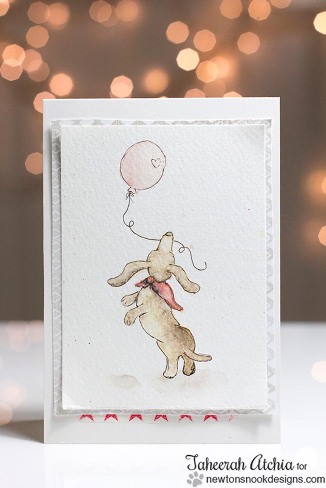 Dachshund Card | Delightful Doxies | 4x6 photopolymer Stamp Set | Newton's Nook Designs