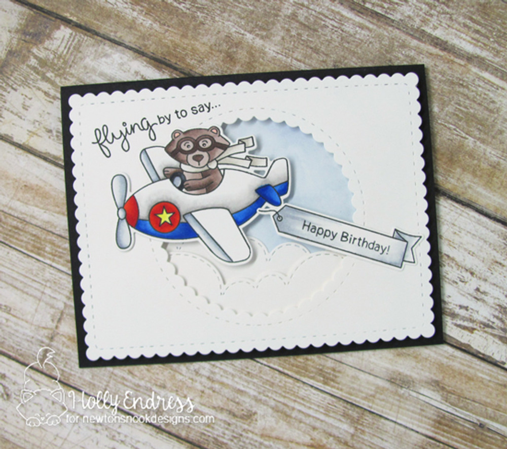 Winston Takes Flight  Stamp Set by Newton's Nook Designs