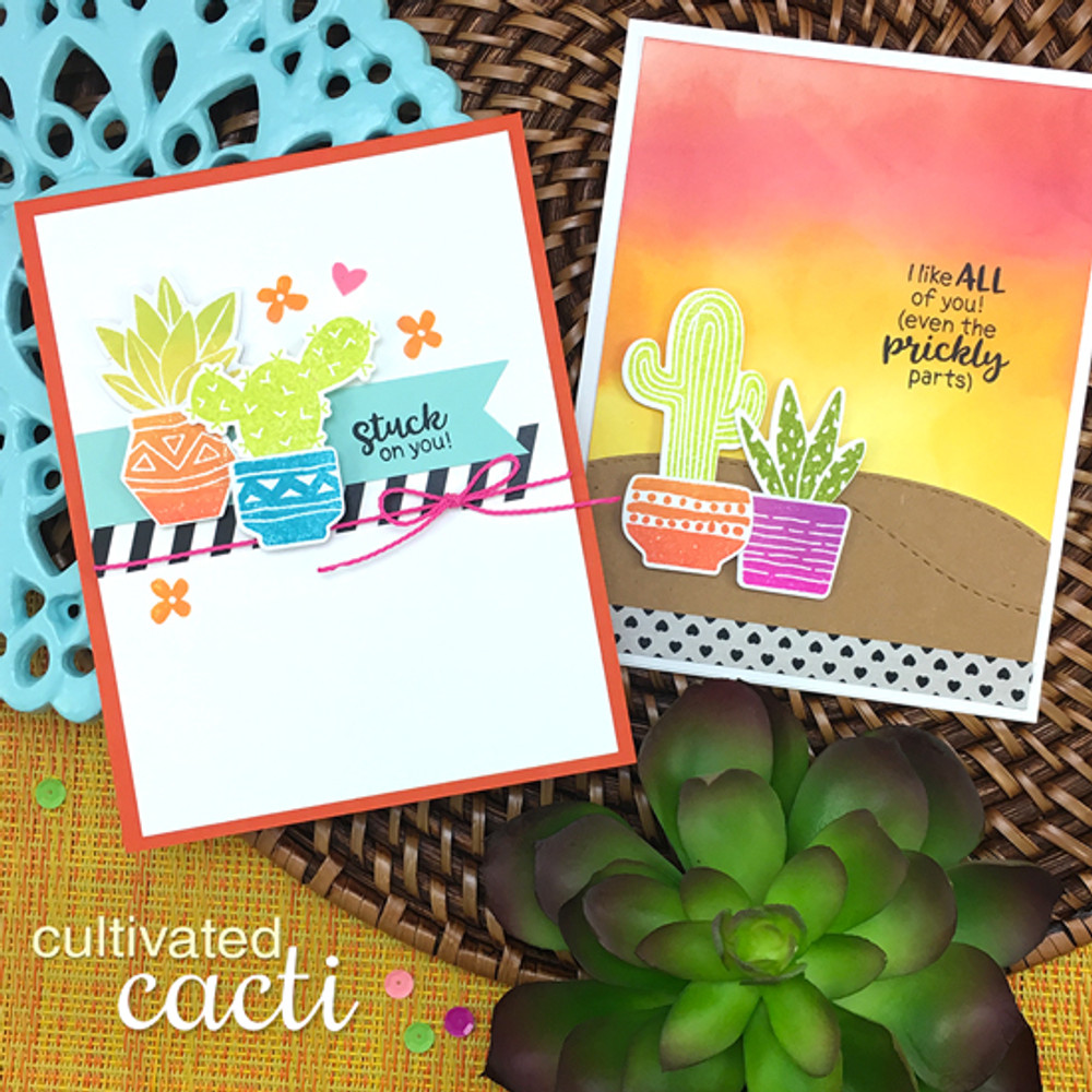 Cultivated Cacti Stamp Set by Newton's Nook Designs