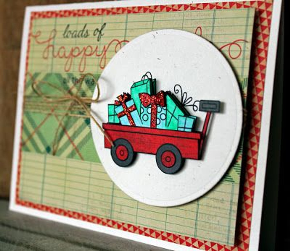 Wagon of gifts Card   Wagon of Wishes Stamp Set by Newton's Nook Designs.
