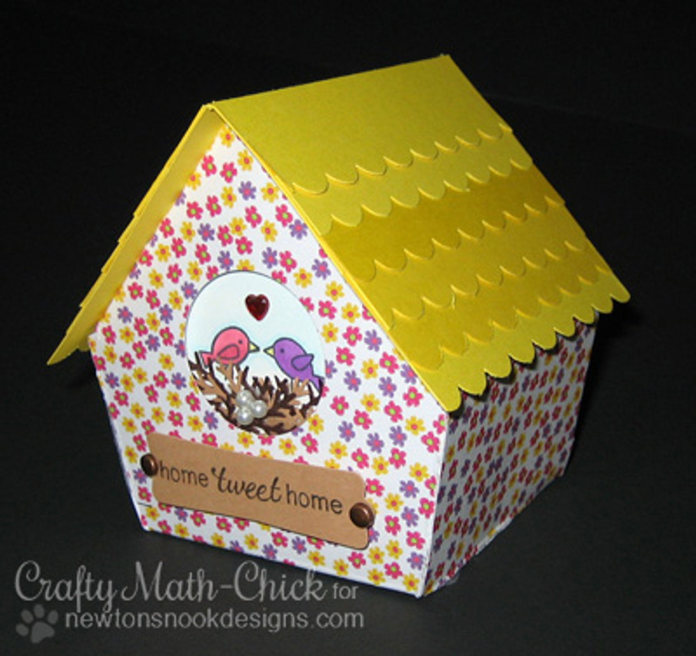 Birdhouse | Tweet Talk stamp set by Newton's Nook Designs.