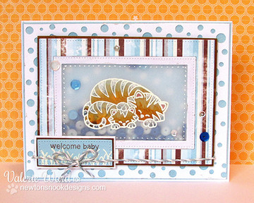 Tiger and cub welcome baby card    Wild Child stamp set by Newton's Nook Designs