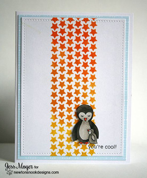 You're Cool Penguin Card   Wild Child stamp set by Newton's Nook Designs