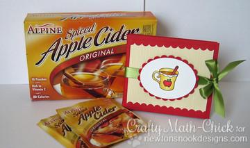 Apple Cider Holder | Apple Delights | 3x4 photopolymer Stamp Set | Newton's Nook Designs