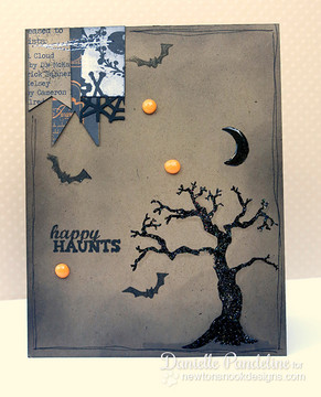 Spooky Tree Cards | Spooky Street | 4x6 photopolymer Stamp Set | Newton's Nook Designs