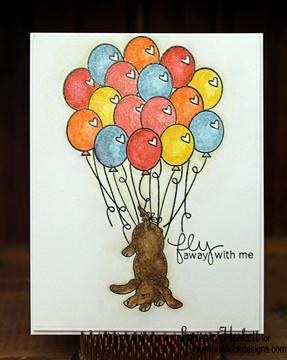 Dachshund Friendship Card | Delightful Doxies | 4x6 photopolymer Stamp Set | Newton's Nook Designs