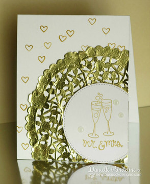Anniversary Card | Years of Cheers | 3x4 photopolymer Stamp Set | Newton's Nook Designs