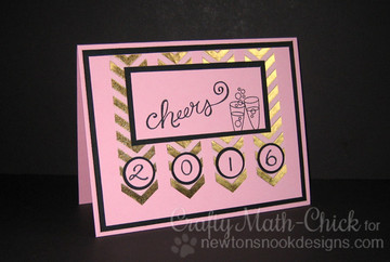 New Years  Card | Years of Cheers | 3x4 photopolymer Stamp Set | Newton's Nook Designs