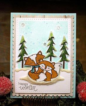 Fox Hollow | 4x6 Photopolymer Stamp Set | Newton's Nook Designs