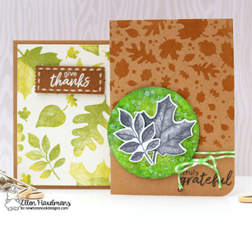 Falling Leaves Stencil by Newton's Nook Designs