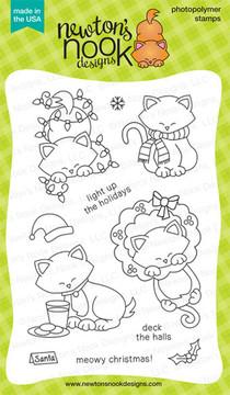 Newton's Holiday Mischief | 4x6 photopolymer Stamp Set by Newton's Nook Designs