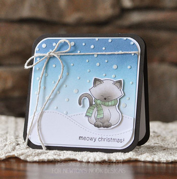 Kitty in christmas Scarf | Newton's Holiday Mischief Stamp Set by Newton's Nook Designs