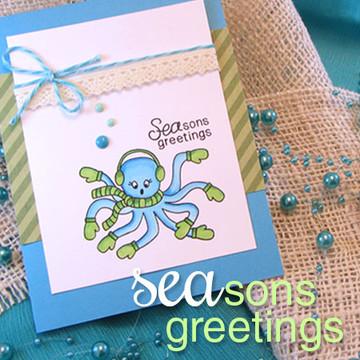 Seasons Greetings Stamp Set by Newton's Nook Designs