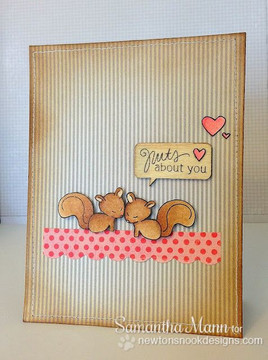 Nuts about You Squirrel Love Card  | Sweetheart Tails Stamp Set by Newton's Nook Designs