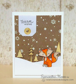 Fox Winter Card | Sweetheart Tails Stamp Set by Newton's Nook Designs