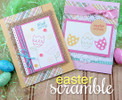 Easter Egg and Tulip Cards  | Easter Scramble stamp set by Newton's Nook Designs.