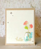 Hello Flower card | Veratile Vases stamp set by Newton's Nook Designs