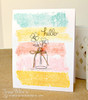 Flowers in a jar  card | Veratile Vases stamp set by Newton's Nook Designs
