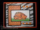 Tiger and cub card  | Wild Child stamp set by Newton's Nook Designs