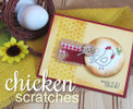 Chicken Scratches | 3x4 photopolymer Stamp Set | Newton's Nook Designs