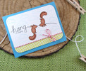 Hang in there squirrel card  | Hanging Around stamp set by Newton's Nook Designs