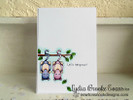 Lets Hang Out possum card | Hanging Around stamp set by Newton's Nook Designs