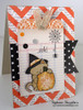 Halloween Cat and Pumpkin Card | Newton's Perfect Pumpkin | 3x4 photopolymer Stamp Set | Newton's Nook Designs