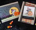 Halloween Cat and Pumpkin Card | Newton's Perfect Pumpkin || 3x4 photopolymer Stamp Set | Newton's Nook Designs