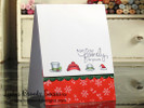 Winter Hat Family Card | Flaky Family | 4x6 photopolymer Stamp Set | Newton's Nook Designs