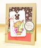 Bear with Tree Christmas Card | Winston's Home For Christmas | 4x6 photopolymer Stamp Set | Newton's Nook Designs