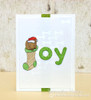 Dachshund Christmas Card | Holiday Hounds | 4x6 photopolymer Stamp Set | Newton's Nook Designs
