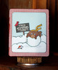 Winston the Bear Winter Card | Winter Tails | 4x6 photopolymer Stamp Set | Newton's Nook Designs