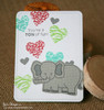 Elephant Friend Card | Wild About Zoo | 4x6 photopolymer Stamp Set | Newton's Nook Designs