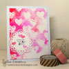 Animal Print Hearts Love Card | Wild About Zoo | 4x6 photopolymer Stamp Set | Newton's Nook Designs